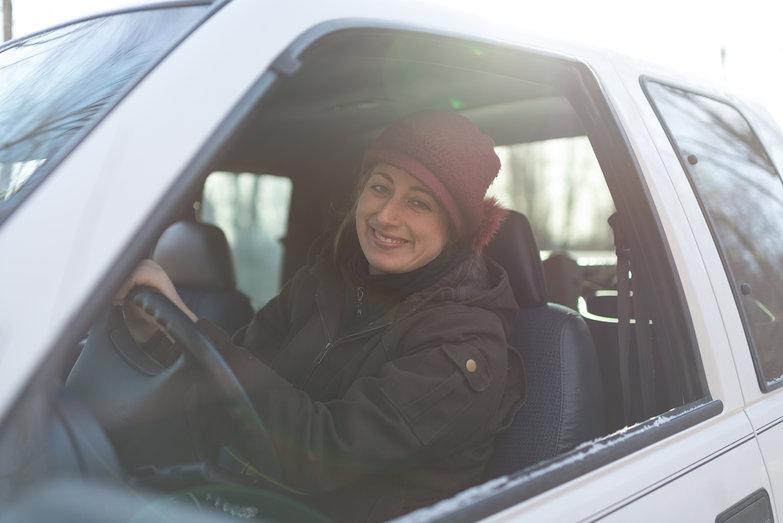 Tara in Truck