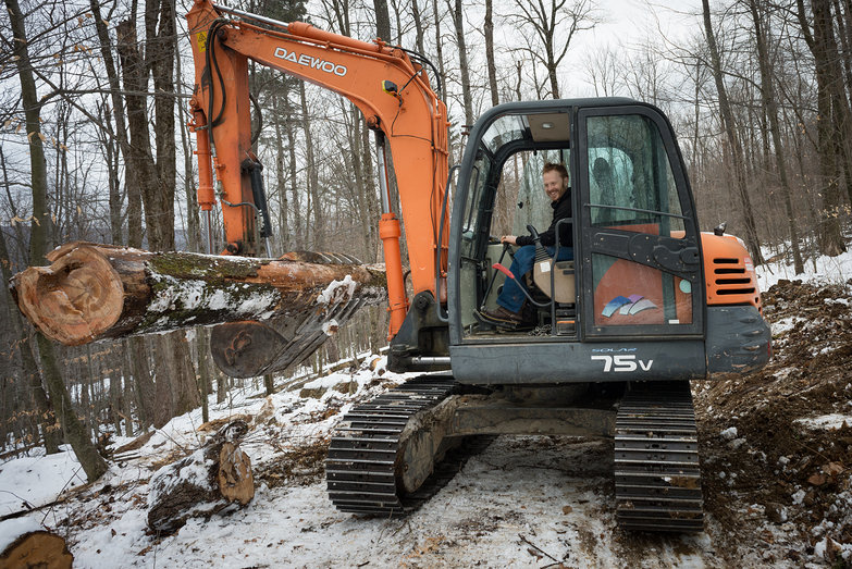 Tyler Driving an Excavator