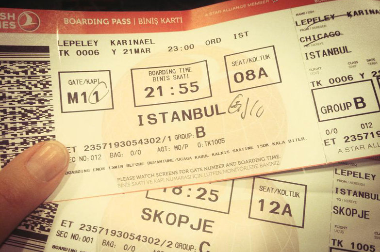 Karina's Plane Tickets