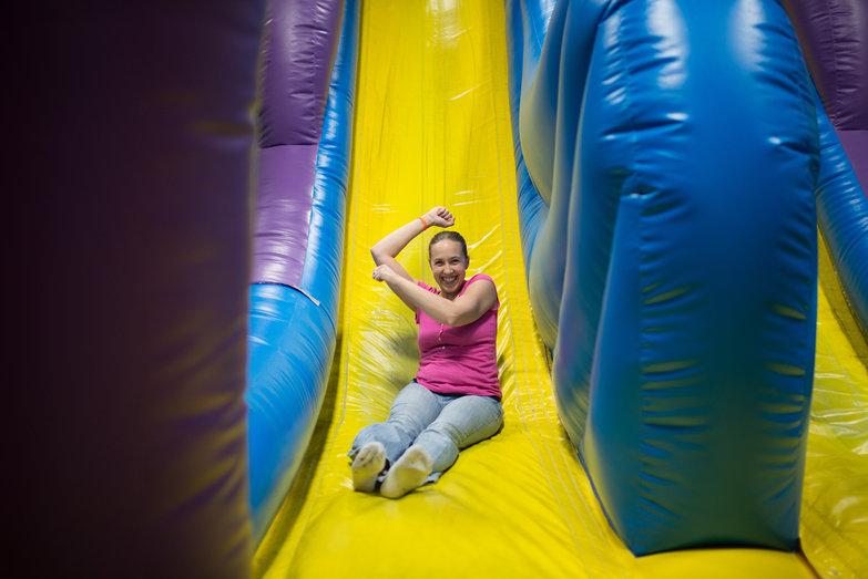 Amanda Sliding @ Bounce Depot