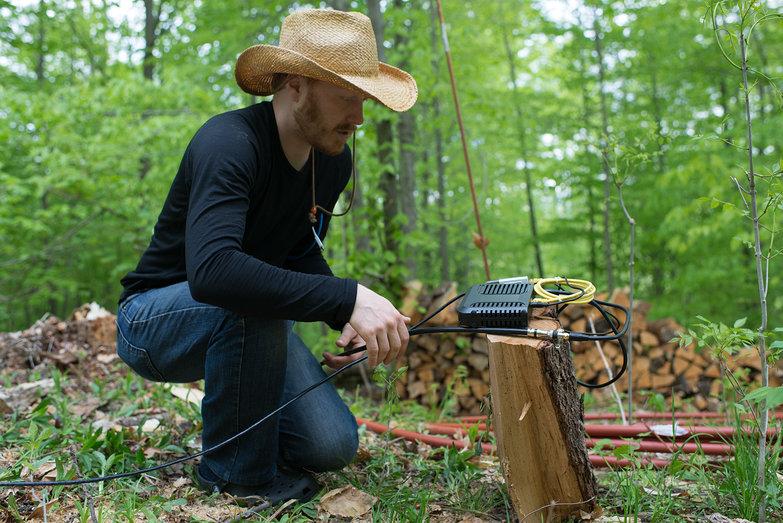 Tyler Testing Power Over Ethernet Setup