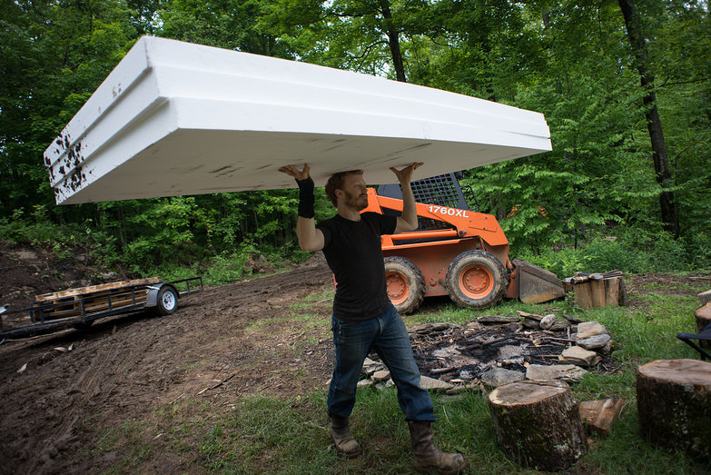 Tyler Unloading EPS Foam