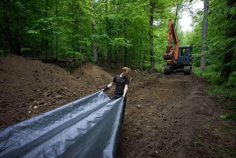 Tyler Laying Earth Stabilization Fabric