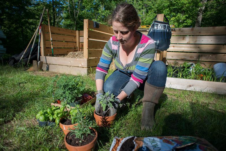 Tara Planting Herbs