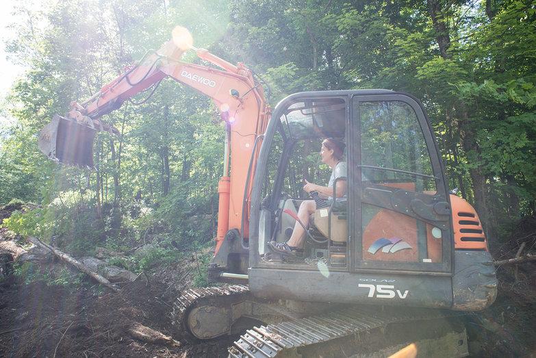 Tambra Operating Rick's Excavator