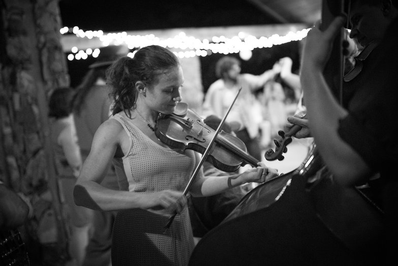 Annie Playing Fiddle