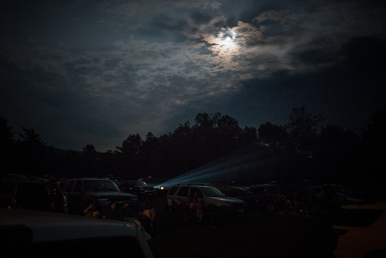 Hoosik Falls Drive-In Movie Theater by Moonlight