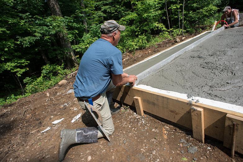 Screeding Cottage Concrete Slab