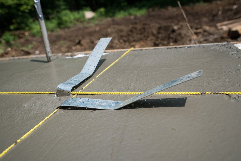 Hurricane Straps in Concrete Slab