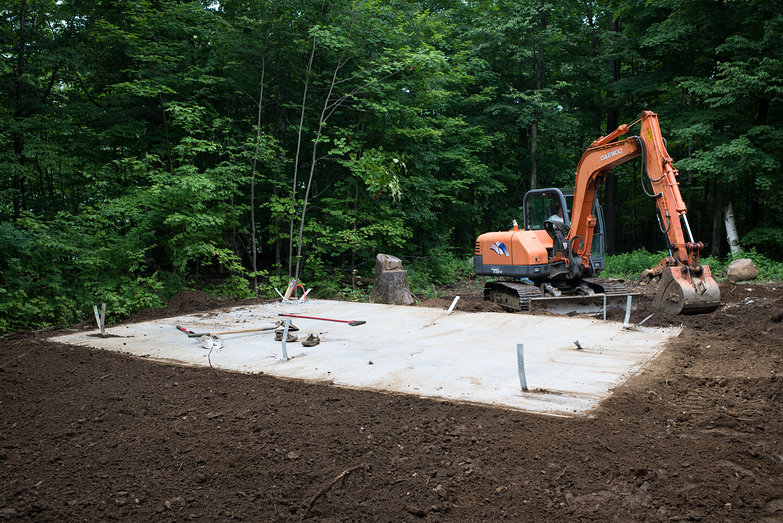 Frost Protected Concrete Slab Site Grading