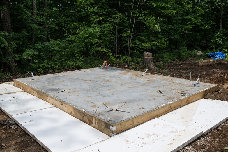 Frost Protected Slab Foundation With Wing Insulation