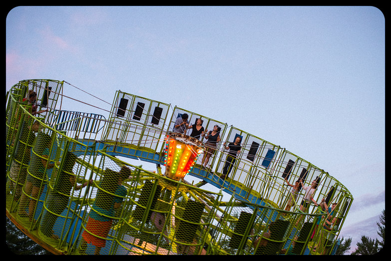 "Michael, Ludmilla, Eliza & Tyler on Ossipee Valley Fair ""Round Up"" Ride"