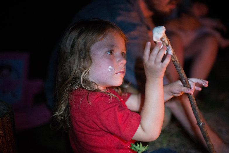 Juliana Inspecting Roasted Marshmallow