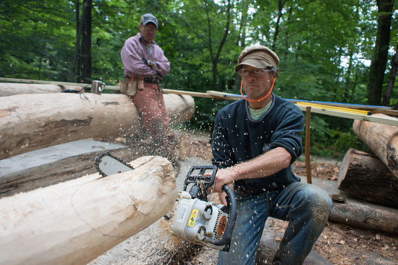 Peter Cutting Roundwood Grindbygg Knee Brace Joint