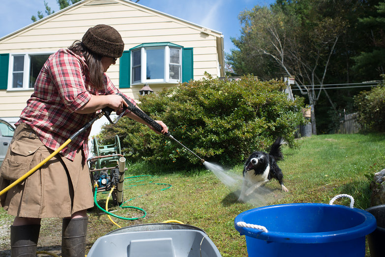 Gibson Chasing Power Washer Water