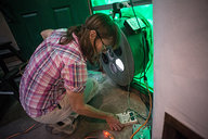 Pascale Setting Up Blower Door Test