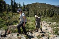 Nadine & Lian Hiking to Heart Lake