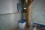 Finish Plaster in Progress in Grindbygg Workshop