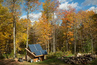 Solar Shed with Fall Color
