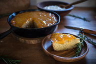 Browned Butter Rosemary Cake with Apricot Jam