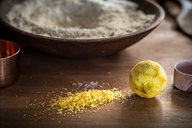 Lemon Zest for Browned Butter Rosemary Cake