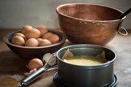Batter in Springform Pan for Orange & Anise Olive Oil Cake