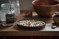 Cake Batter in Tart Pan