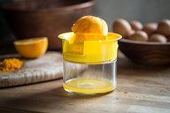 Juicing Orange for Orange & Anise Olive Oil Cake