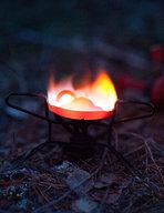 Whisperlite Camp Stove Burning Red Hot